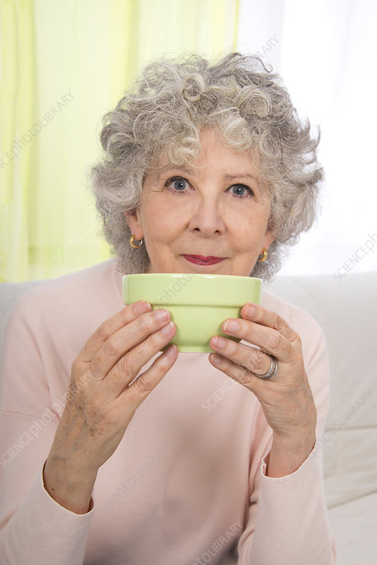 Woman holding bowl