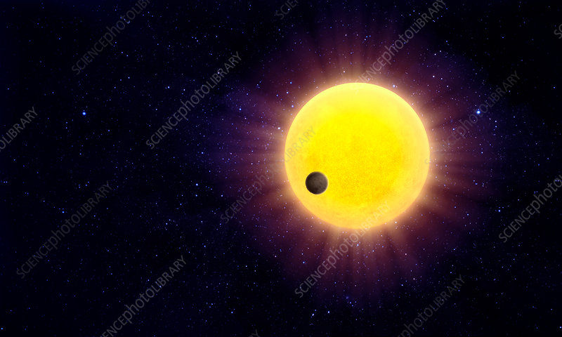 Exoplanet passing and star
