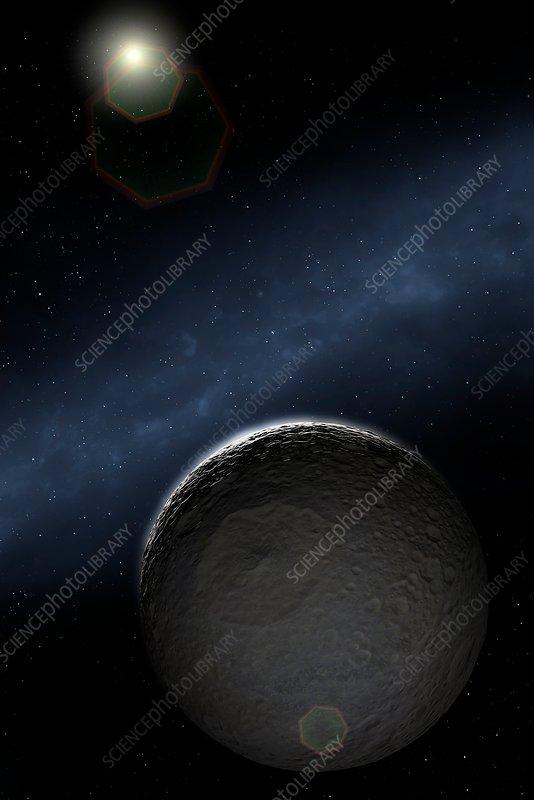Artwork of Saturn's Moon Mimas