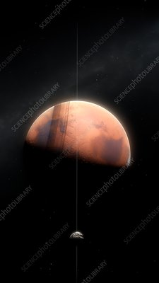 Artwork of a ring around Mars