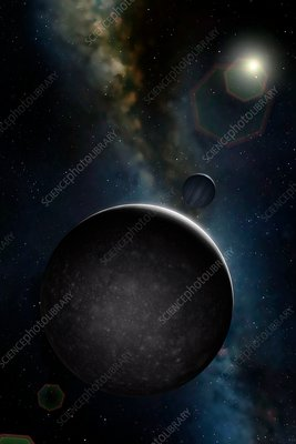 Artwork of Jovian Moon Callisto