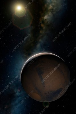 Artwork of Planet Mars