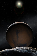 Artwork of Mars and Deimos