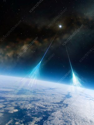 Artwork of Cosmic Rays