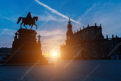 Statue, Theatre Square, Dresden, Germany