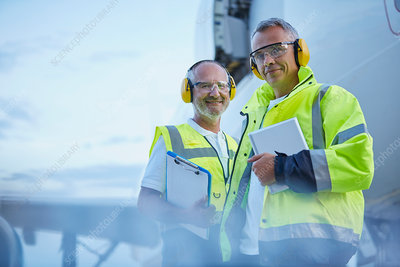 Air traffic control ground crew workers