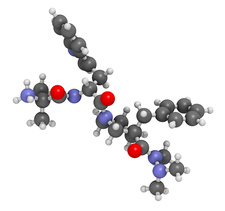 Anamorelin anorexia drug molecule, illustration