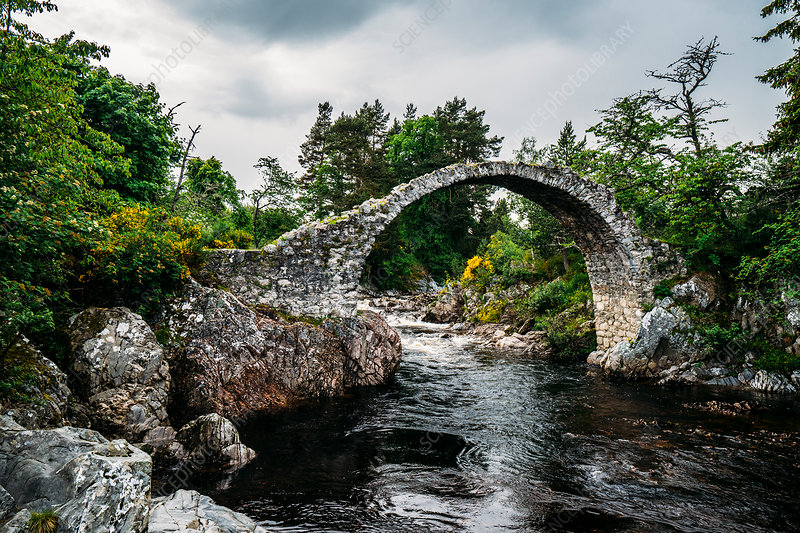Arched footbridge, Carrbridge, Scotland