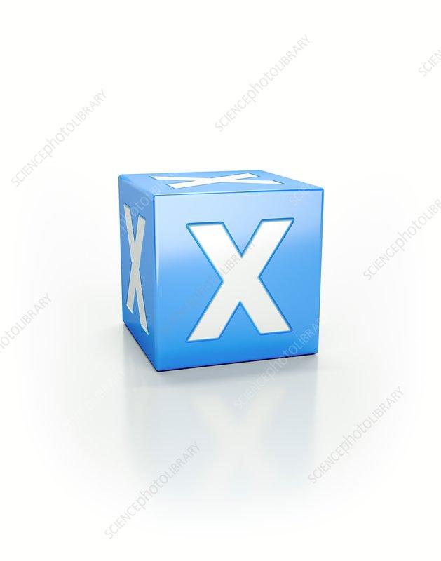 Blue cube, X