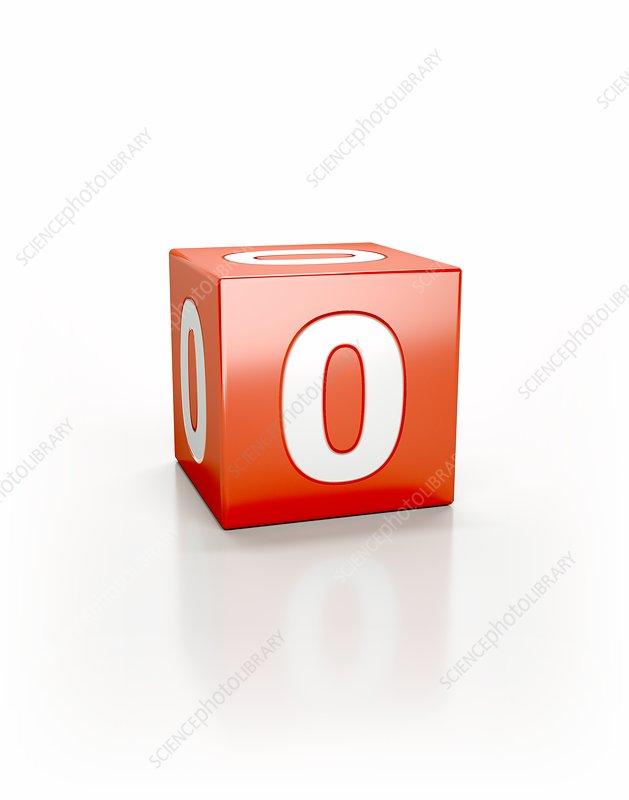 Red cube, zero