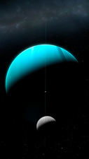Artwork of Uranus and Ariel