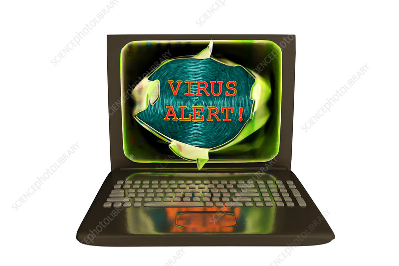 Computer virus, illustration