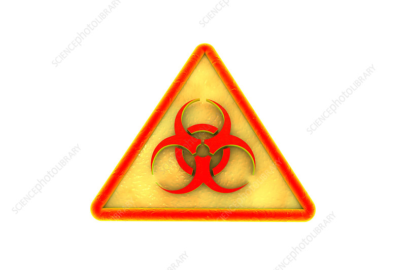 Biohazard sign, illustration