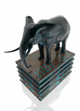 Elephant on circuit boards