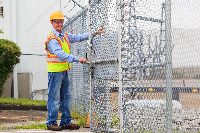 Electrical engineer using security system