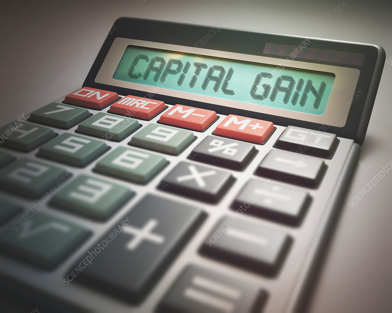 Calculator with capital gain