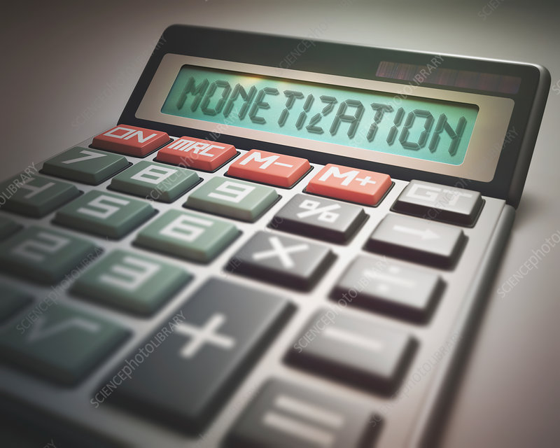 Calculator with monetization