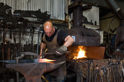 Blacksmith at work