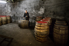 Whisky distillery warehouse