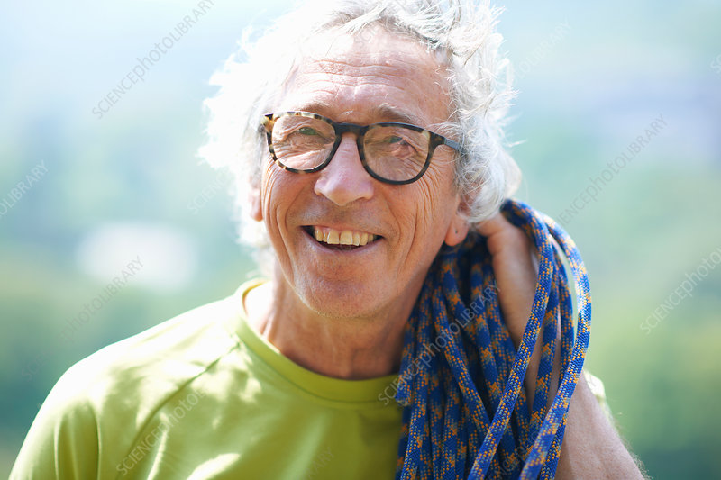 Portrait of rock climber smiling