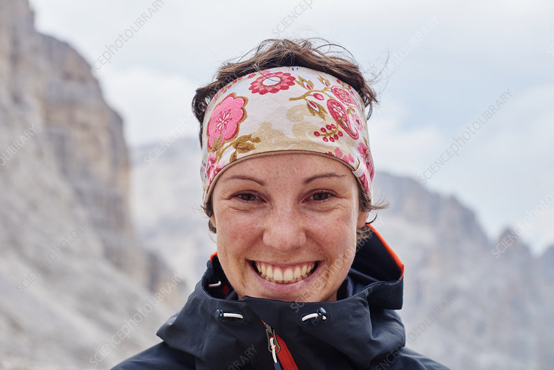Portrait of hiker smiling