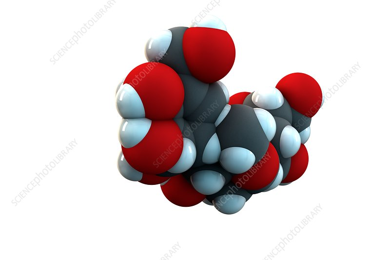 Acarbose diabetes drug molecule