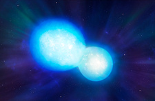Artwork of Colliding Neutron Stars