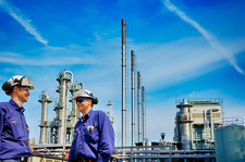 Chemical engineers on oil and gas refinery