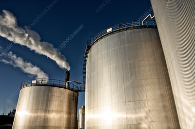 Oil storage towers