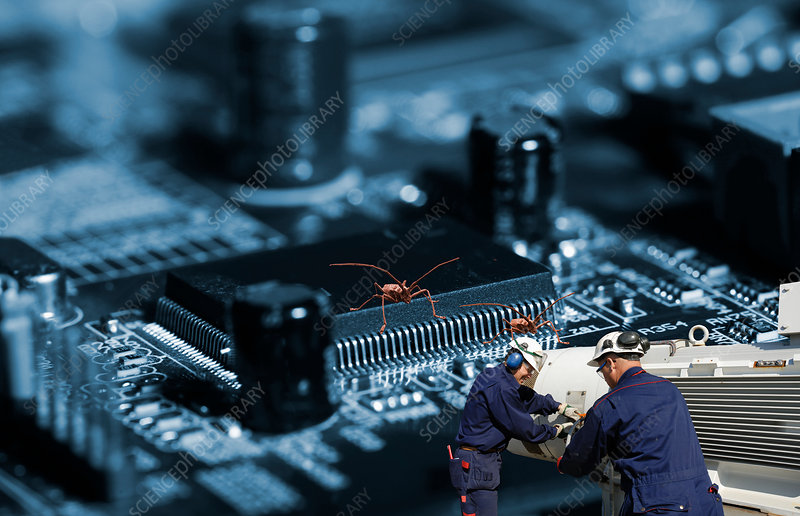 Engineers and circuit boards