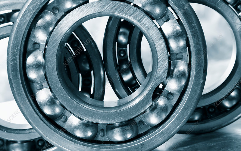Metal cogs and ball bearings