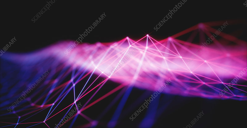 Illuminated purple lines, illustration