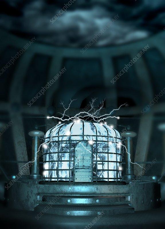 Faraday cage, illustration - Stock Image - F018/1483 - Science Photo