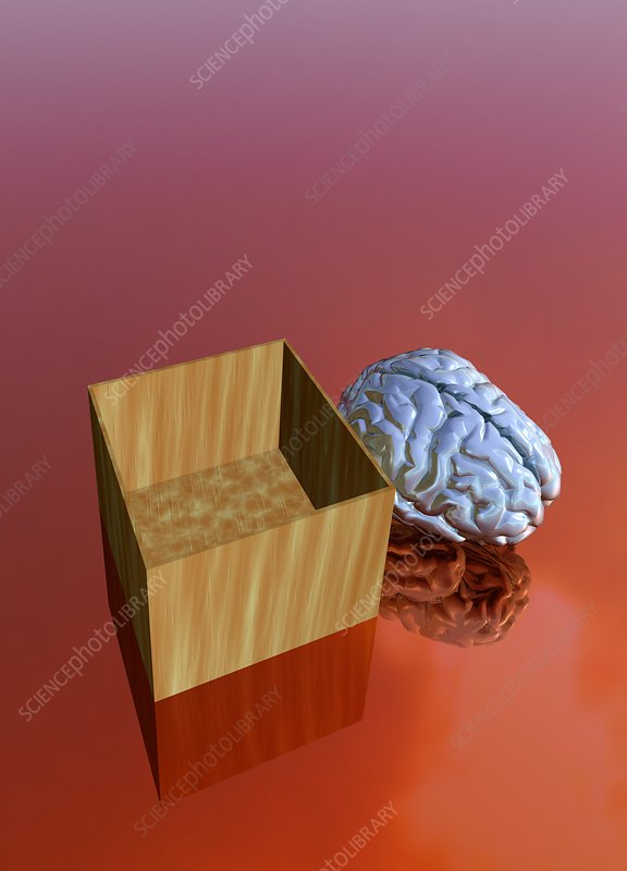 Thinking outside the box, conceptual artwork