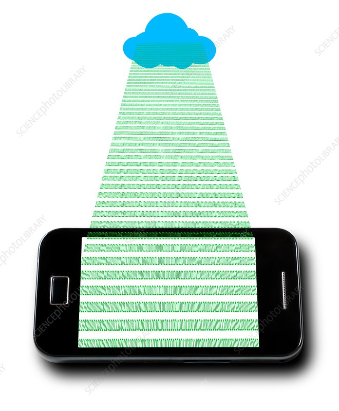 Mobile phone and cloud icon
