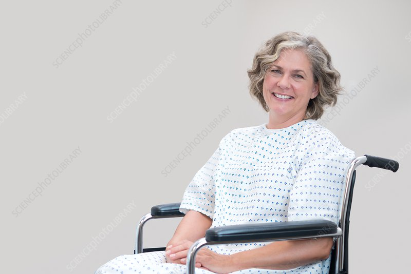 Woman patient in wheelchair