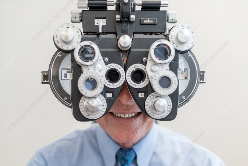 Man having his eyes tested