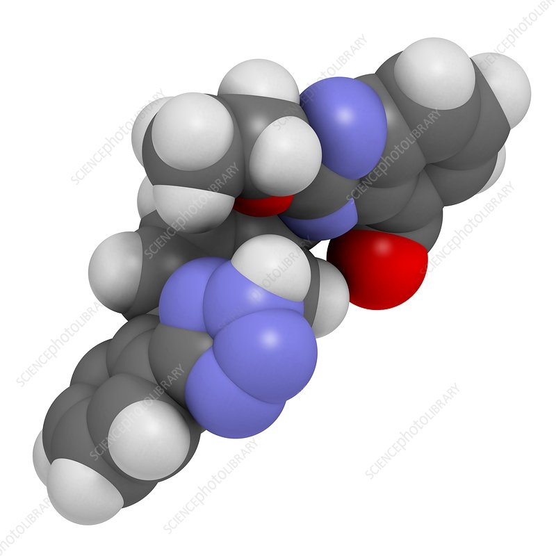 Candesartan hypertension drug molecule