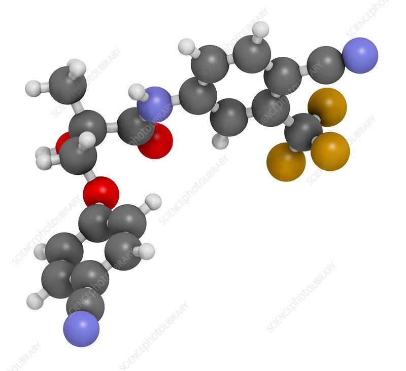 Enobosarm drug molecule