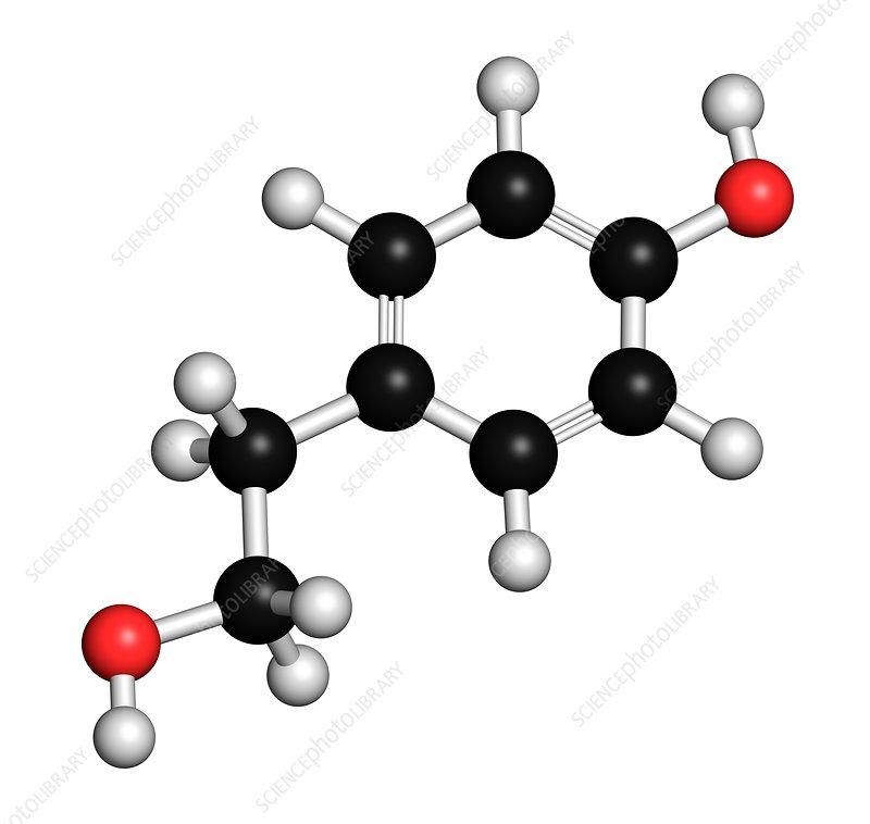 Tyrosol olive oil antioxidant molecule