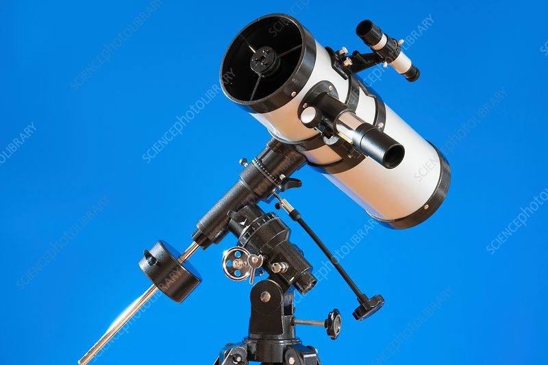 Telescope against blue background