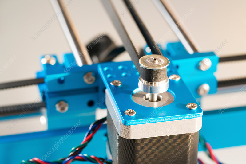 Stepper motor on industrial machine