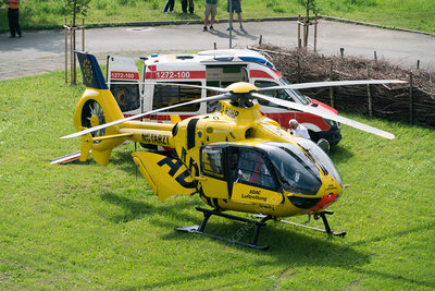 Adac helicopter and ambulance