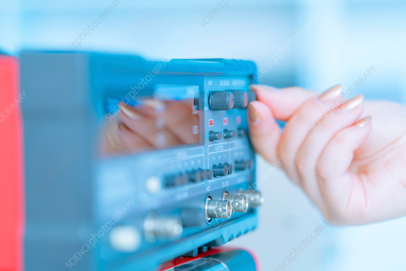 Person using control panel