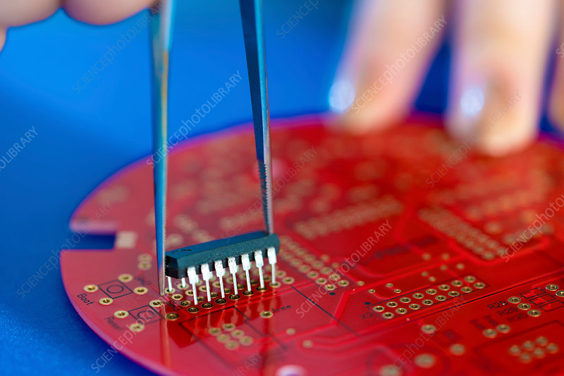 Integrated circuit on a printed circuit board