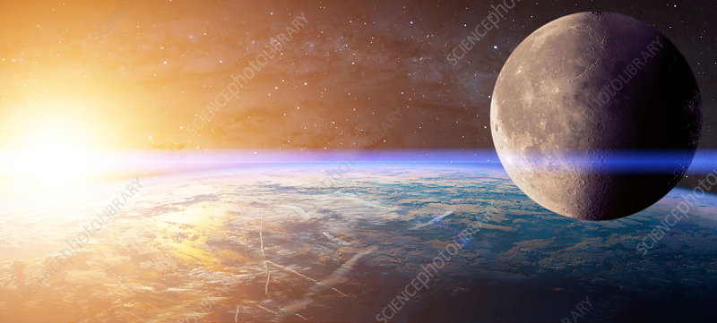Planet with lens flare