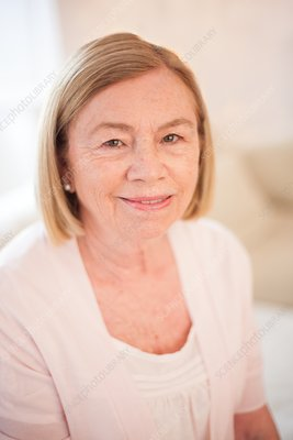 Portrait of woman smiling towards camera