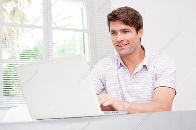 Man using laptop