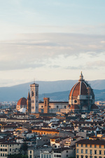 The Duomo and historical landmarks of Florence city