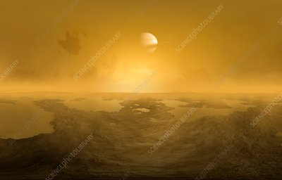 Lakes on Titan, illustration